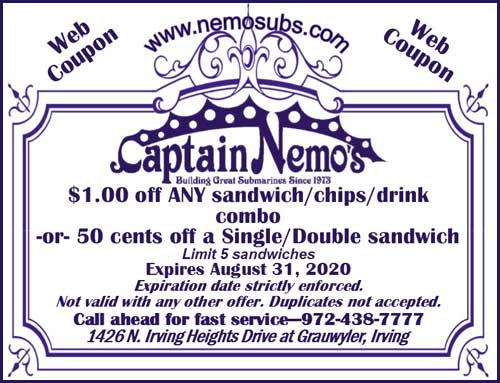 Captain Nemo's Delicious Steak Submarines - Coupons
