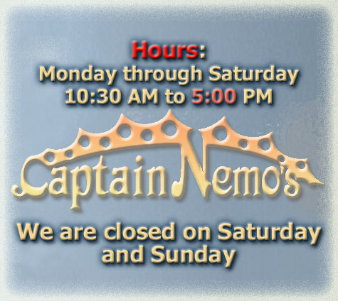 Captain Nemo's Delicious Steak Submarines - Store Hours