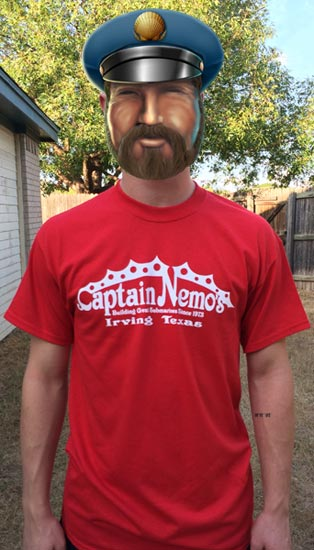 Captain Nemo's Delicious Steak Submarines - Captain Nemo's T-Shirts
